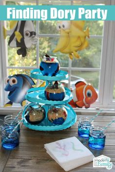 Under The Sea Party, Party Themes, Party Ideas, Crafts For Kids To Make, Diy Home Crafts, Crafty Projects, Craft Party, Some Fun, Birthday Parties