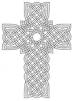 Coloring Pages Crosses Designs | Celtic Cross Design 1 by baalthezzar
