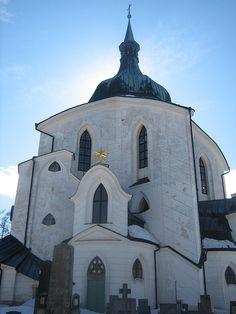 pilgrimage church of st john of nepomuk . czech republic