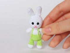 Tiny 2-inch Amigurumi Bunny Plush by MyKnittedKitten #amigurumi #crochet