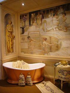 Frescoes for bathroom, by Mariani Affreschi