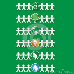 Set Of Papercut Figures Holding Ecological Symbols -vector Stock Vector - Illustration of environmental, chain: 39378688 Green Backgrounds, Ecology, Amazing Gardens, Paper Cutting, Hold On, Royalty Free Stock Photos, Environment, Chain