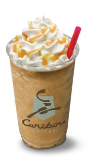 #caribou coffee is the BEST! And a vanilla cooler would taste REALLY good in this heat!