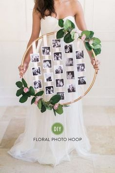 DIY Photo Crafts and Projects for Pictures - DIY Floral Photo Hoop - Handmade Picture Frame Ideas and Step by Step Tutorials for Making Cool DIY Gifts and Home Decor - Cheap and Easy Photo Frames, Creative Ways to Frame and Mount Photos on Canvas and Display Them In Your House http://diyjoy.com/handmade-photo-crafts