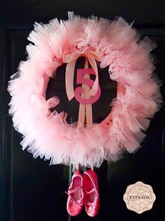 Ballerina Birthday Party  ballerina wreath