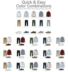 man color combination - Buscar con Google #MensFashionStyle #InfographicsFashion