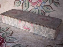 French Fabric Box ~ Vintage Early 1900's ~ Pink Rose Baskets