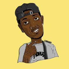 Arte que fiz do rapper/mc chris #GE # 1kilo #bh #cartoon #caricatura #desenho #arte #ilustração