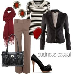 Accessorizing with a pop of color makes a business outfit more fun