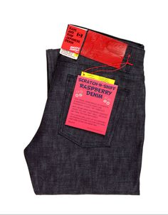 Scratch-N-Sniff Raspberry Denim jeans.  Naked & Famous, the company making the jeans, is actually Canadian based.