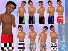 Boys Designer Swim Shorts Found in TSR Category 'Sims 4 Male Child Swimwear' Source by jennazinn Sims 4 Male Clothes, Sims 4 Toddler Clothes, Sims 4 Cc Kids Clothing, Kids Clothes Boys, Boy Clothing, Children Clothing, The Sims 4 Pc, Sims 4 Teen, Sims 4 Mm