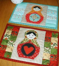 The Patchsmith: Eyes, Smiles and the Quilting Gallery Mug Rug Swap 2014