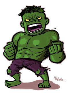 #Hulk #Fan #Art. (Little : Hulk) By: ChickenzPunk.