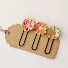 floral paper clips/bookmarks