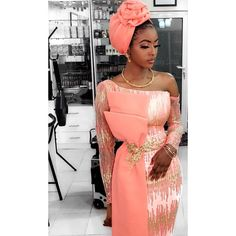 Africa fashion which looks gorgeous. Aso Ebi Lace Styles, Lace Gown Styles, African Lace Styles, African Lace Dresses, Latest African Fashion Dresses, African Print Fashion, Africa Fashion, Nigerian Fashion, Nigerian Lace Styles Dress