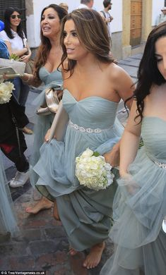 Here comes the bride[smaid]: Eva Longoria looked stunning at pal Alina Peralta's wedding in Cordoba, Spain, on Friday