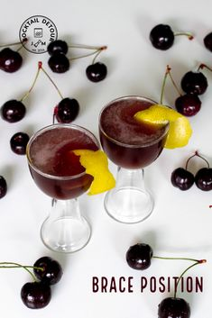 The Swedish cherries are here, and we wanted that to permeate this post. While not using the cherries in the actual cocktail they made a perfect side snack to be enjoyed together with the drink. Cherries, Braces, Panna Cotta, Cocktails, Positivity, Ethnic Recipes, Food, Maraschino Cherries, Craft Cocktails