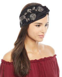 da1115d17e6c5 Jennifer Behr Silk Satin Sirvat Turban Head Wrap