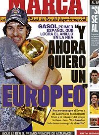 Pau Gasol, primer español en ganar un anillo de la NBA