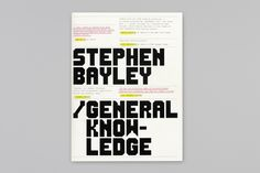 THEARTISTANDHISMODEL » Booth-Clibborn Editions – Stephen Bayley: General Knowledge 2000