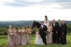 Not only can you enjoy the beautiful view, there is an equestrian theme to the wedding!