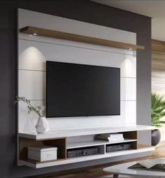 Tv Unit Furniture Design, Tv Unit Interior Design, Tv Cabinet Design, Tv Wall Design, Tv Console Design, Tv Wall Decor, Wall Tv, Tv Wall Panel, Bedroom Tv Wall