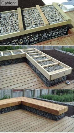 Gabion Furniture Construction Landschaftsbau ideen für Ihr Zuhause When decorating your teen's bedroom, some ideas she might come up with may not be what you would have chosen for her… Backyard Garden Design, Backyard Patio, Backyard Landscaping, Balcony Garden, Backyard Ideas, Front Garden Ideas Driveway, Firepit Ideas, Garden Kids, Diy Garden