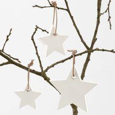 A Star cast from Plaster Beton Diy, Star Cast, Star Ornament, Home Interior, Plaster, Winter, Christmas Ornaments, Stars, Holiday Decor