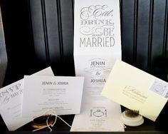 Plush Paper Design Blog: Jenin & Josh : Wedding Invitations