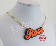 Acryl naam plaat  Custom Jewelry  met uw door ChristyTreasureBox