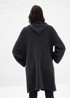 Totokaelo - Lauren Manoogian Soft Black Capote Coat