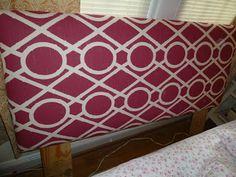 Sundresses and Smiles: Upholstered Headboard DIY