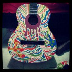 Psychedelic guitar art