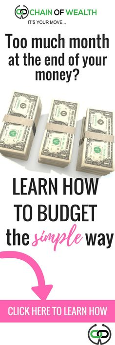 Sick of being broke? It's time to budget!
