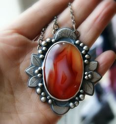Agate Sterling Silver Necklace