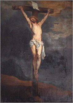 Crucifixion by Anthony van Dyck, ca. 1620. Van Dyck is often passed off as a secondary painter, a lightweight, but this powerful study of the crucifixion proves him a true Flemish master.