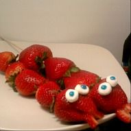 Easy Snake Strawberry Kabobs! & Their red, white, and blue for Holiday Picnics!