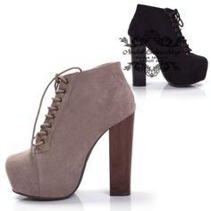 scarpe-Decolte-zeppa-donna-stivaletti-tela-Stivali-tacco-alto-13-cm-nero-nero