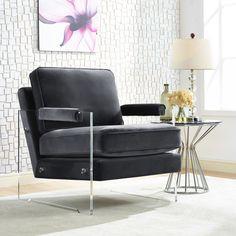 TOV Furniture Serena Velvet/Lucite Chair - TOV-106