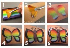Face paint swatches I think mehron paradise rainbow cake