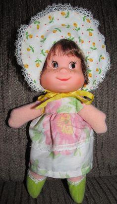 Vintage Mattel Bonnet Beans Baby Beans Doll Dolly Old Brown Eyes Brown Hair | eBay