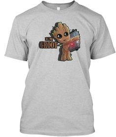 I'm Groot   Guardian Of The Galaxy 2017 Light Steel Kaos Front