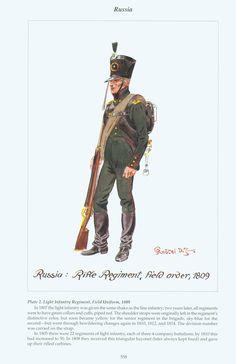 Russia: Plate 2. Light Infantry Regiment, Field Uniform, 1809