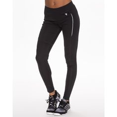 Y.A.S Sport Planet Leggings (£40) ❤ liked on Polyvore featuring activewear, activewear pants, black, sports fashion, tights and womens-fashion