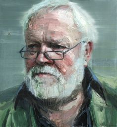 "Painting by Colin Davidson  ""Michael Longley ""  (Transmission 2012)  2011-12  oil on linen  127 x 117 cm"