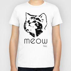 Meeooow Kitty Kids T-Shirt by BeeJay's - $20.00 www.society6.com/beejays Designs by Beth Nintzel and Jennifer Thomas-Browne
