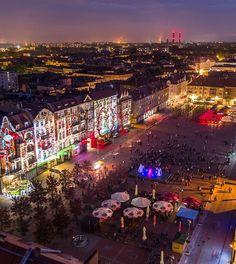 #Bytom Centrum by night. #Poland