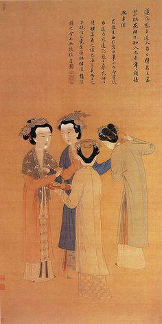 明 唐寅 王蜀宫妓图 北京故宫