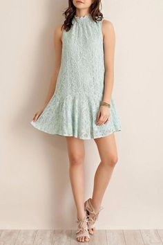Pin for Later: 20 Dresses That'll Ensure You Show Up to Your Next Wedding Looking Pretty Darn Spectacular  Entro Mint Lace Dress ($48)