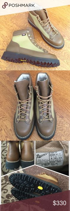 🎉💓Men Danner Light Khaki Sale⚡️✨ Brand New. Never worn. Without original box. Very very minor tiny scratch as can be seen in the forth photo. Men size 9 EE. 100% authenticity. Danner Shoes Boots